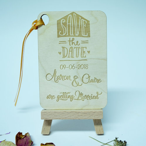 Personalised 'Save the Date' Rectangle Invitation