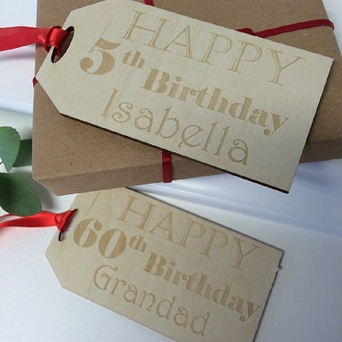 Personalised Oversized Birthday Parcel Gift Tag