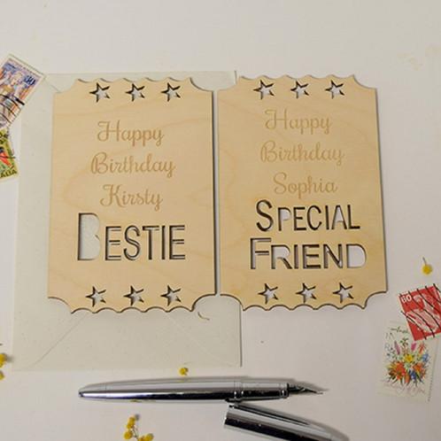 Personalised Birthday Card Best Friend