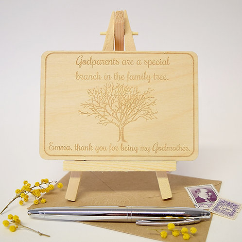 Personalised Cards For Godparents
