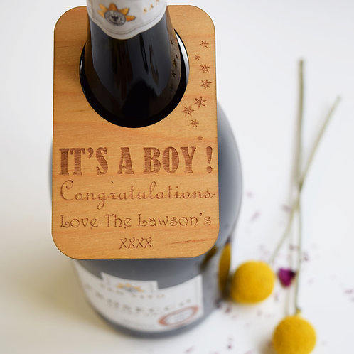 Personalised New Baby Gifts Wine Bottle Labels