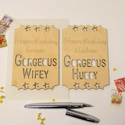 Personalised Wife Husband Birthday Card