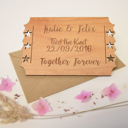Personalised Wedding Keepsake Card
