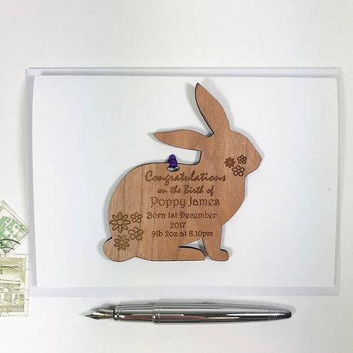 Rabbit New Baby Gift Card