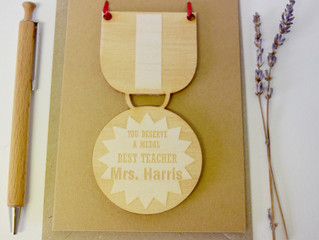Make your teacher's day at the end of term with our personalised keepsake items