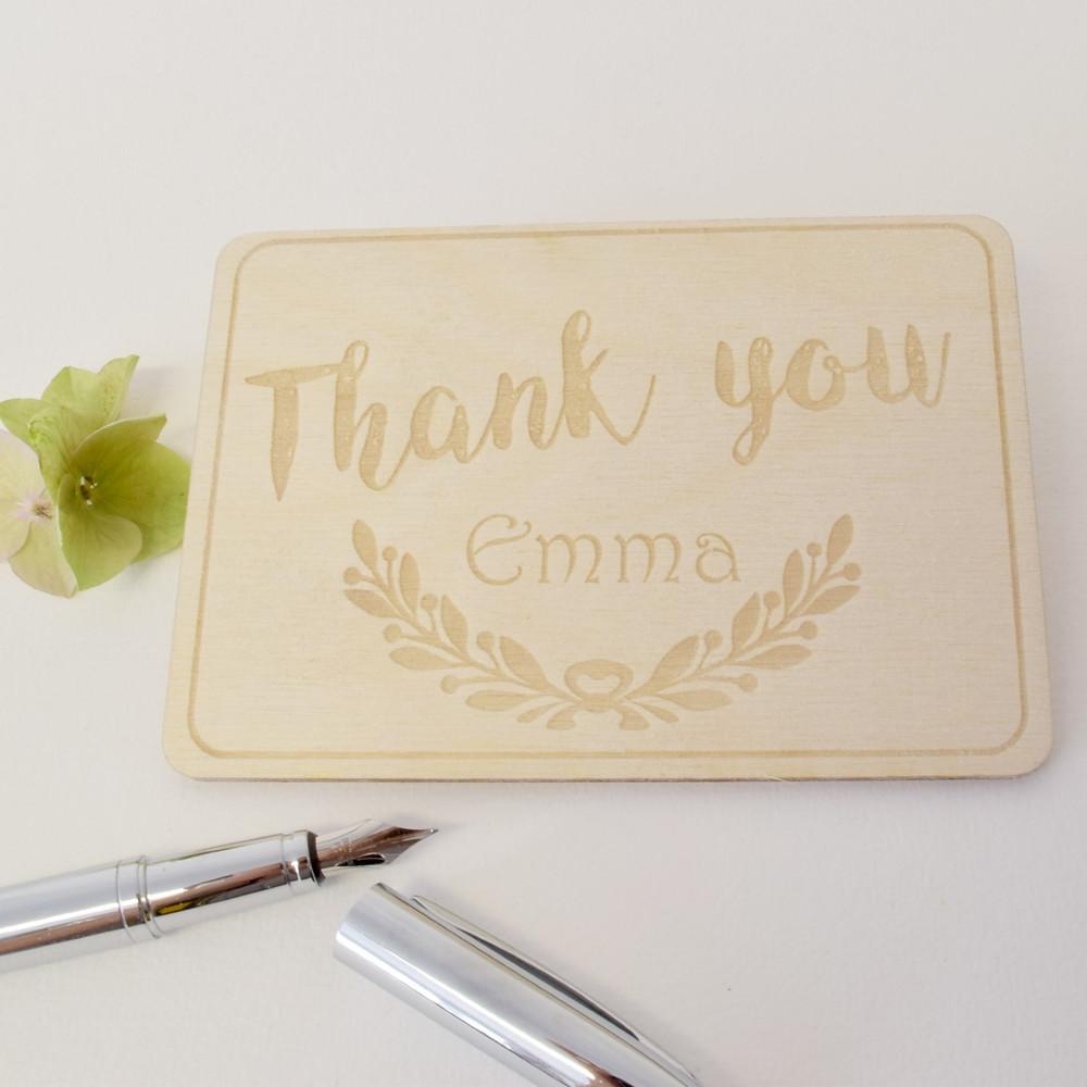 personalised thank you card keepsake