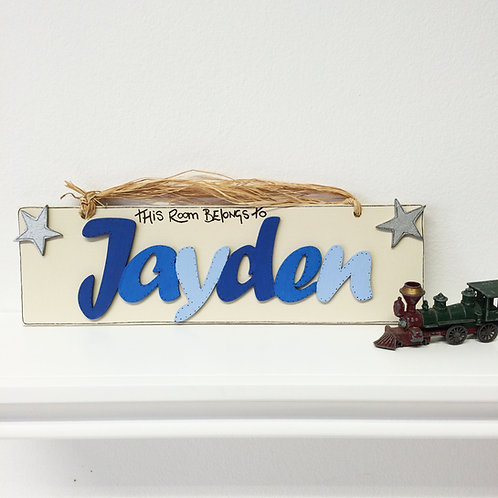 Personalised Name Plaque (Blues)
