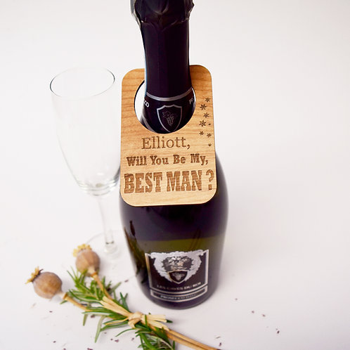 Personalised Wooden Wine Bottle Labels