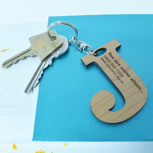 Ovacome: Initial Letter Keepsake Keyring