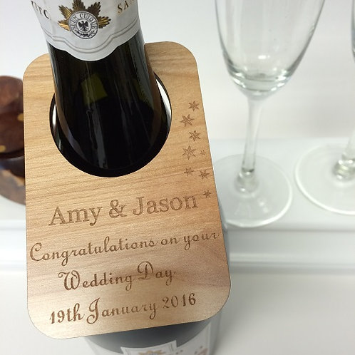 Personalised Wedding Day Wine Bottle Labels