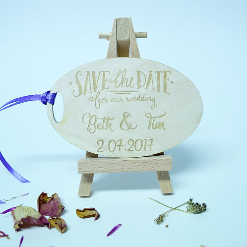 Personalised 'Save the Date' Oval Invitation