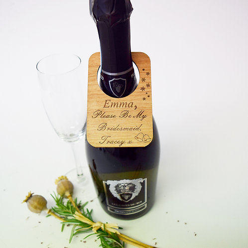 Personalised Please Be My Bridesmaid Bottle Tag