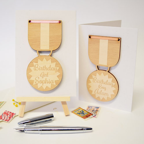 Personalised Birthday Medals