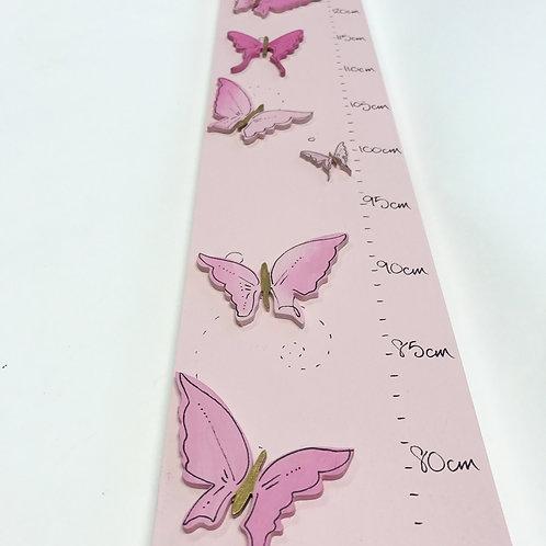 Pink Wooden Children's Height Chart