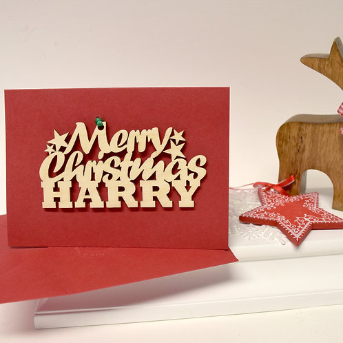 Personalised Merry Christmas Card