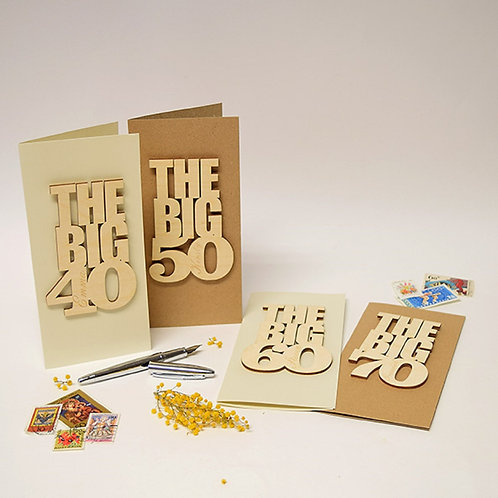 The Big Milestone Personalised Wooden Keepsake Card