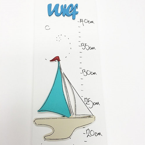 Personalised Little Boats Height Chart