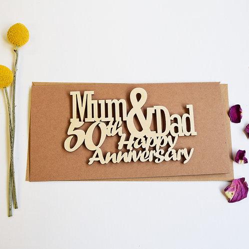 Mum and Dad Happy Anniversary Card