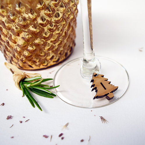 Initial |Letter|Christmas|Tree|Wine|Glass|Charms