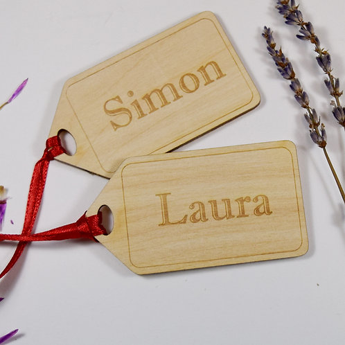 Personalised Name Parcel Gift Tag