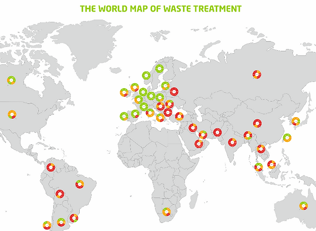 World Map of Waste Treatment