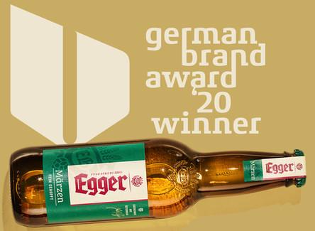 Erfolgreiche Markenführung für EGGER Bier ausgezeichnet für den German Brand Award 2020