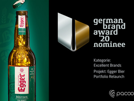 Erfolgreiche Markenführung für EGGER BIER nominiert für den German Brand Award
