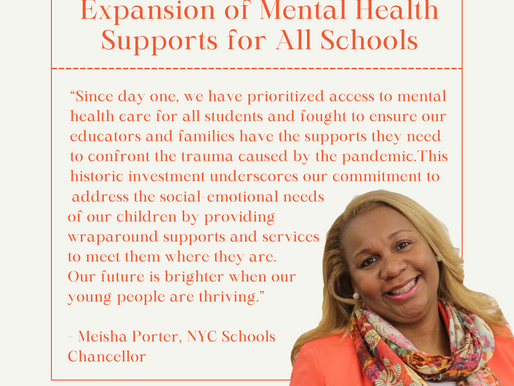 NYC Announces Historic Expansion of Mental Health Supports for All Schools