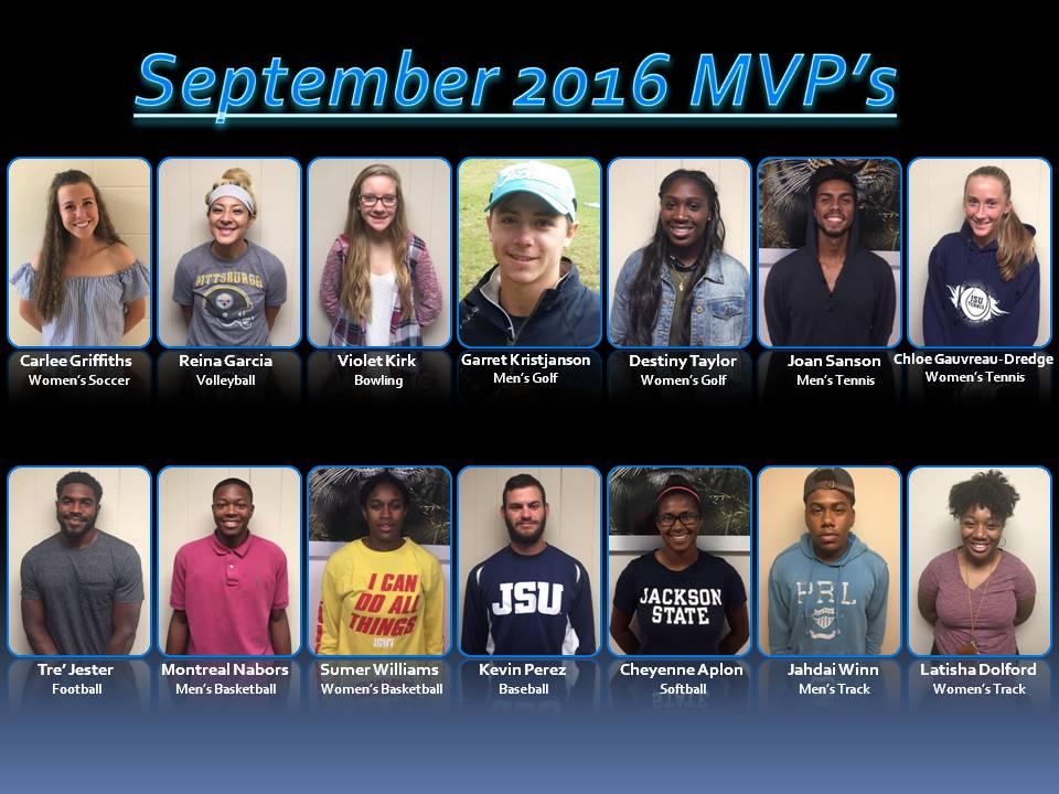 Student-Athlete MVP's 9/2016