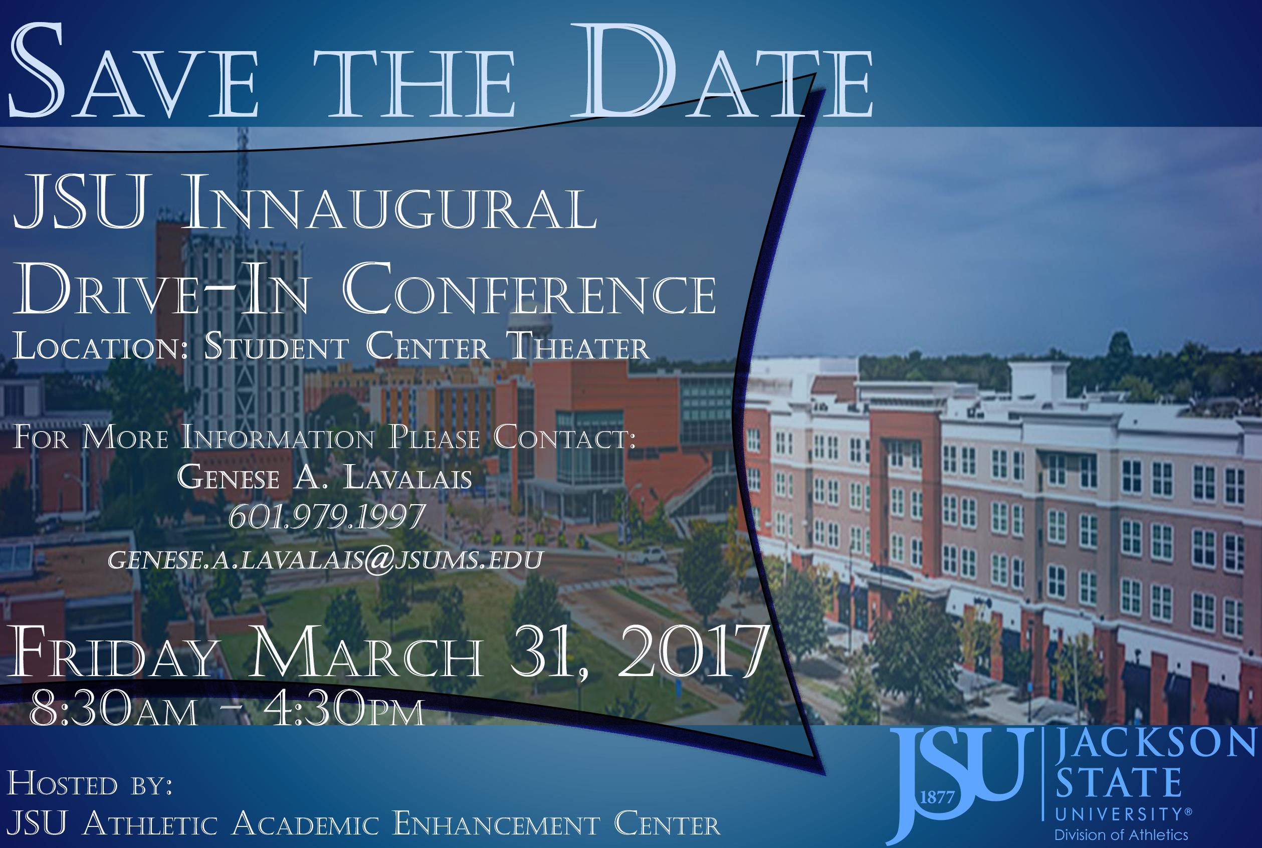 JSU Innaugural Drive-In Conference