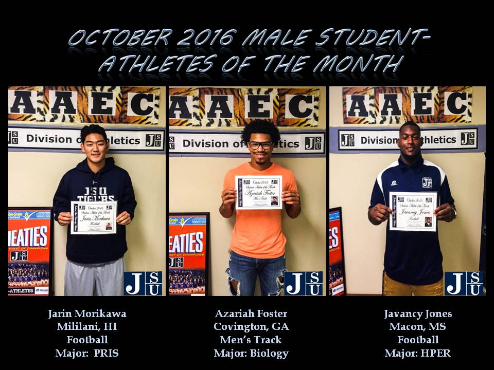 Male Student-Athletes of the Month