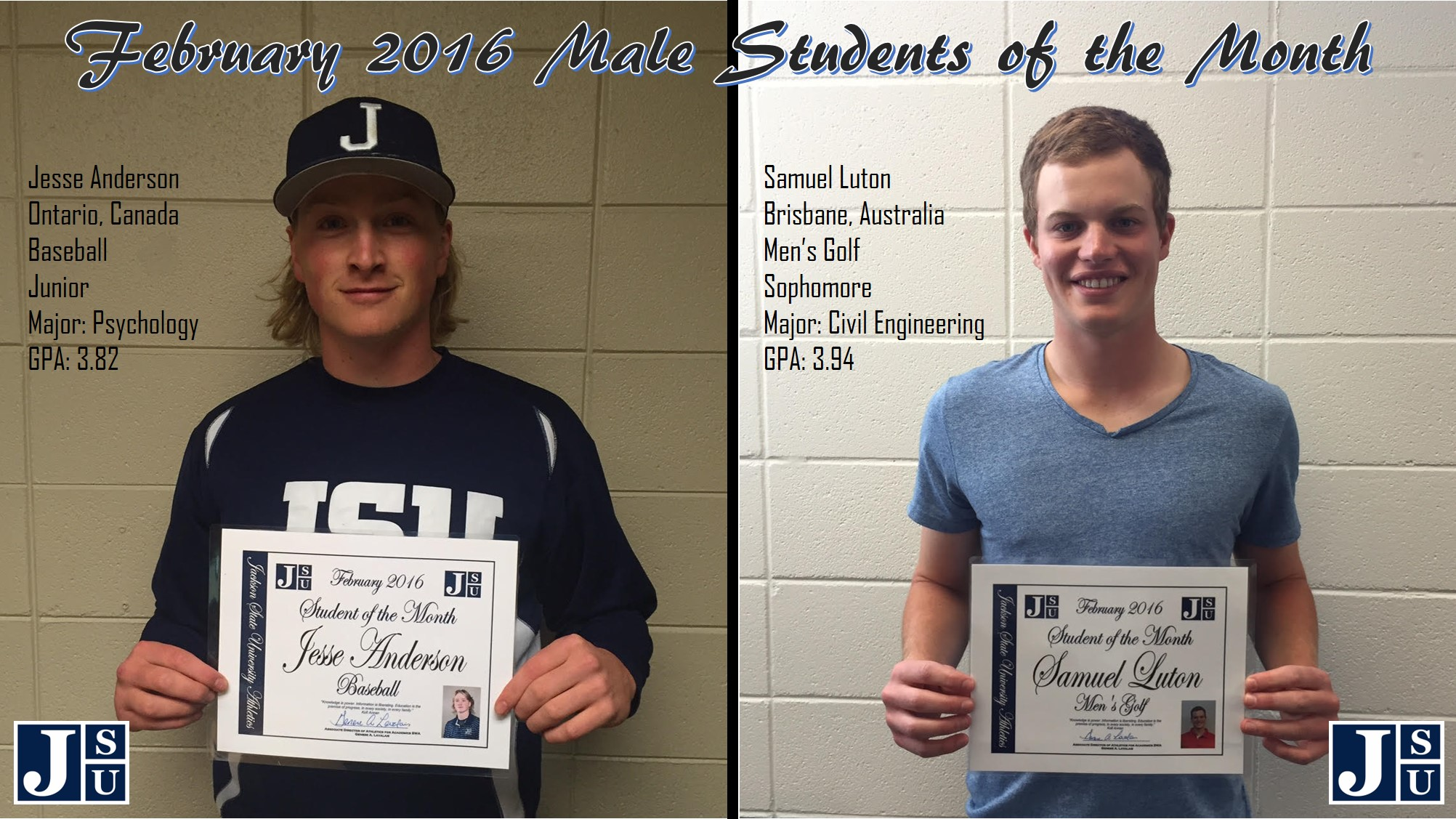 Male Students of the Month (February)