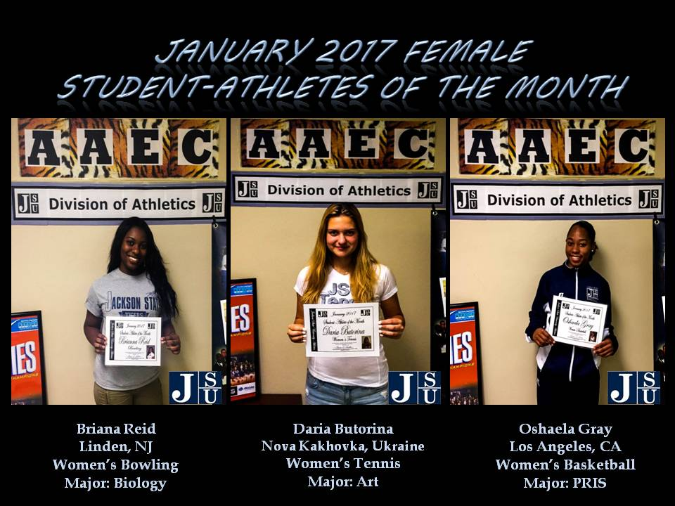 Female Student-Athletes of the Month