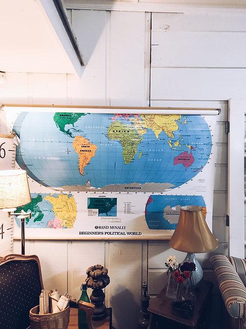 Rand McNally Roll Down World Map