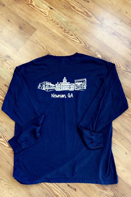 Navy Newnan Pride Long Sleeve Shirt