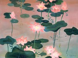 Lotus Dusk, Acrylic.jpg