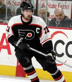 Peter Forsberg avec les Philadelphia Flyers