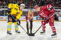Timea Bacsinszky - engagement lors du match LHC - SC Bern