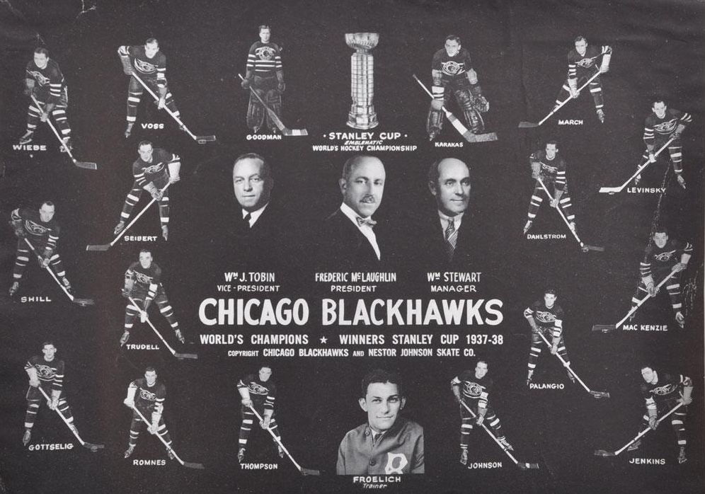 Stanley Cup 1938 Chicago BlackHawks