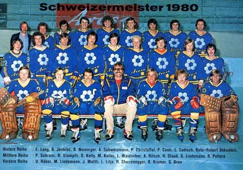 EHC Arosa Champion Suisse 1980