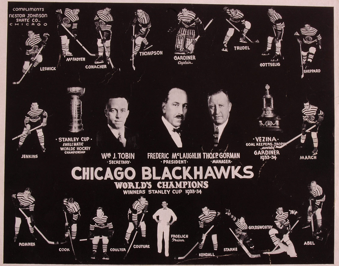 Stanley Cup 1934 Chicago BlackHawks