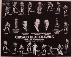 Stanley Cup 1934 Chicago BlackHawks