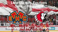 Line-Up HC Bienne - Lausanne HC