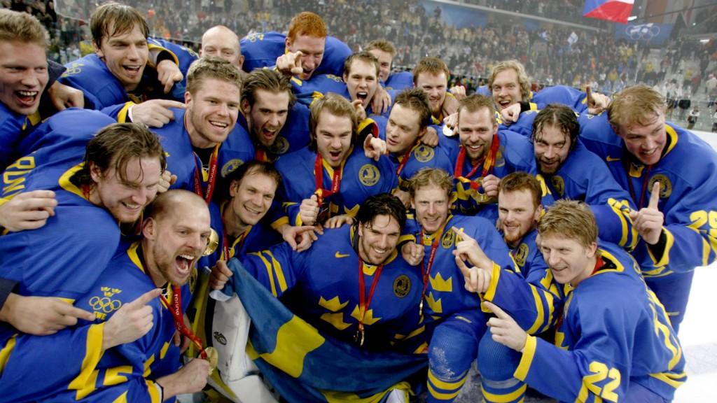 Champion Olympique avec la Suède