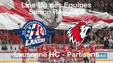 Line-Up SC Rapperswil-Jona Lakers - Lausanne HC