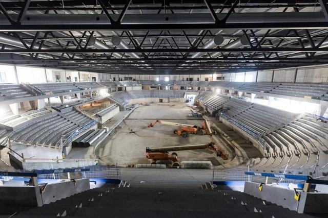 La Vaudoise Arena en construction