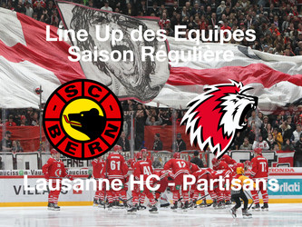Line-Up SC Bern - Lausanne HC