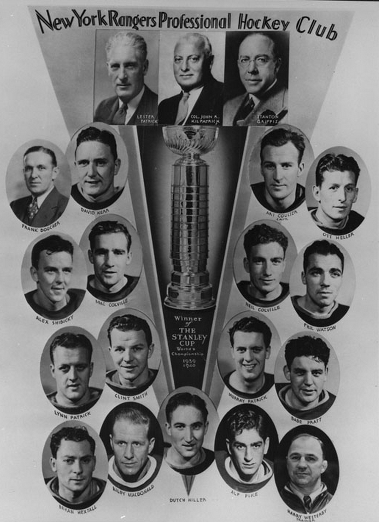 New York Rangers 1940 Stanley Cup Champions