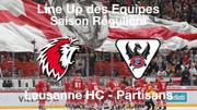 Line-Up HC Lausanne HC – HC Fribourg-Gottéron