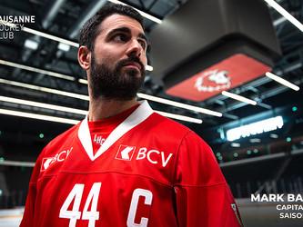 Mark Barberio est le nouveau capitaine du Lausanne Hockey Club